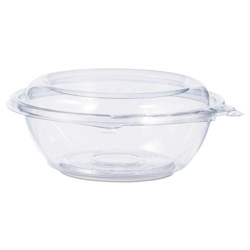 Tamper-Resistant, Tamper-Evident Bowls with Dome Lid, 8 oz, Clear, 240/Carton
