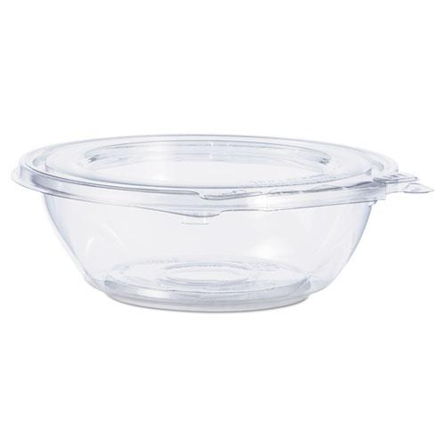 Tamper-Resistant, Tamper-Evident Bowls with Flat Lid, 8 oz, Clear, 240/Carton