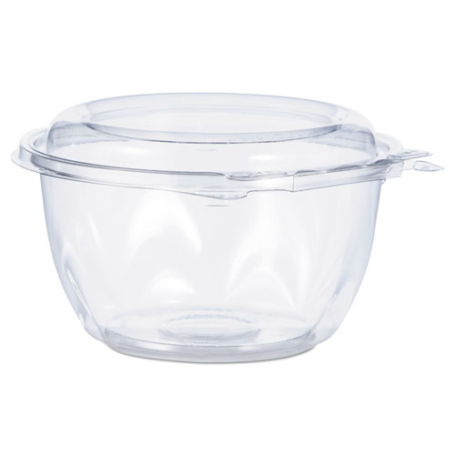 Tamper-Resistant, Tamper-Evident Bowls with Dome Lid, 16 oz, Clear, 240/Carton