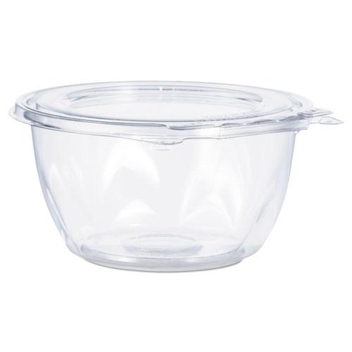 "Tamper-Resistant, Tamper-Evident Bowls with Flat Lid, 16 oz, 5.5"" Diameter x 2.7""h, Clear, 240/Carton"