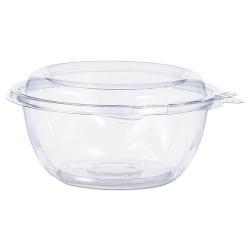 Tamper-Resistant, Tamper-Evident Bowls with Dome Lid, 12 oz, Clear, 240/Carton
