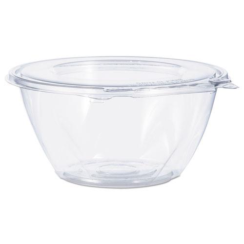 Tamper-Resistant, Tamper-Evident Bowls with Flat Lid, 32 oz, Clear, 150/Carton