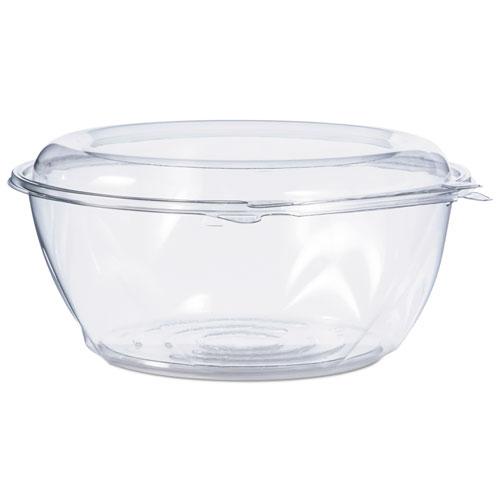 Tamper-Resistant, Tamper-Evident Bowls with Dome Lid, 64 oz, Clear, 100/Carton