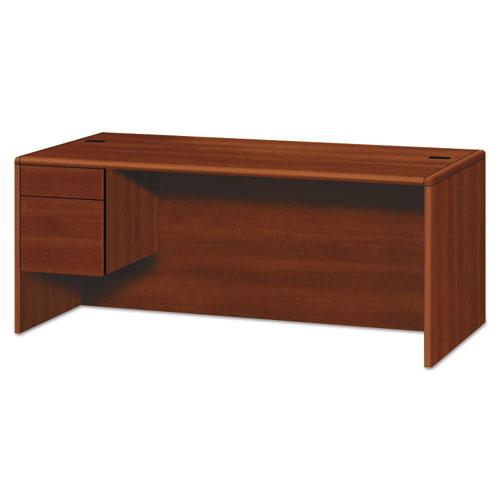 10700 Series Single Pedestal Credenza, 1 Box/File Pedestal, 72w x 29.5h Cognac