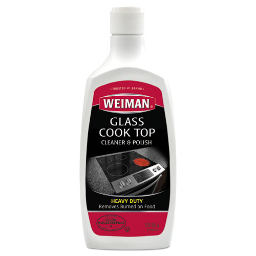 Glass Cook Top Cleaner and Polish, 20 oz, Squeeze Bottle, 6/CT