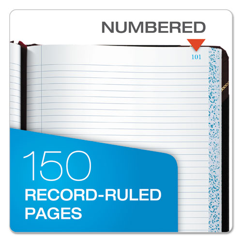 Columnar Accounting Book, Record Rule, Black Cover, 150 Pages, 8 1/8 x 10 3/8