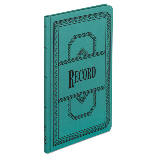 Record/Account Book, Record Rule, Blue, 150 Pages, 12 1/8 x 7 5/8