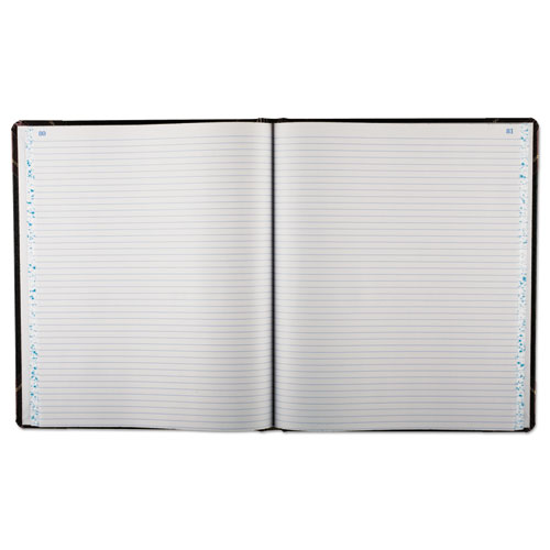 Record Ruled Book, Black Cover, 150 Pages, 10 1/8 x 12 1/4