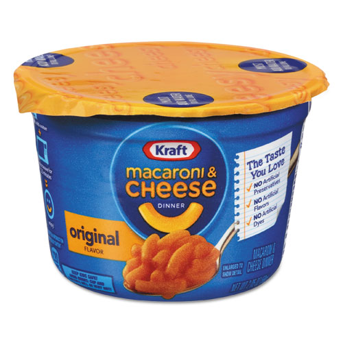 Kraft® Easy Mac Macaroni & Cheese, Micro Cups, 2.05oz, 10/Carton