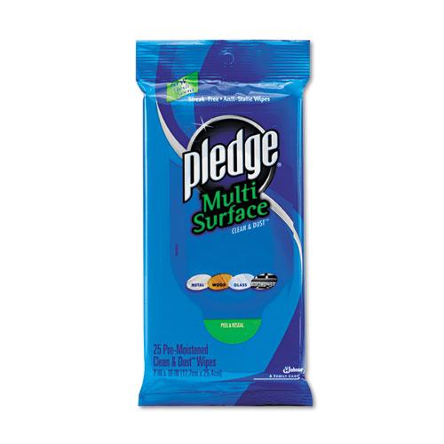 Pledge Multi Surface Cleaning Wipe - 25 / Pack - White DVOCB214629