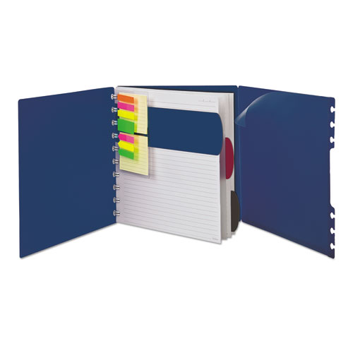 Versa Crossover Notebook, 1 Subject, Wide/Legal Rule, Navy Cover, 11 x 8.5, 60 Sheets | by Plexsupply