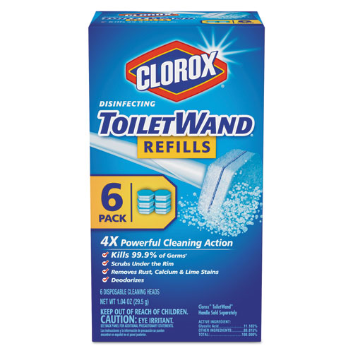 Clorox® Disinfecting ToiletWand Refill Heads, 6/Pack