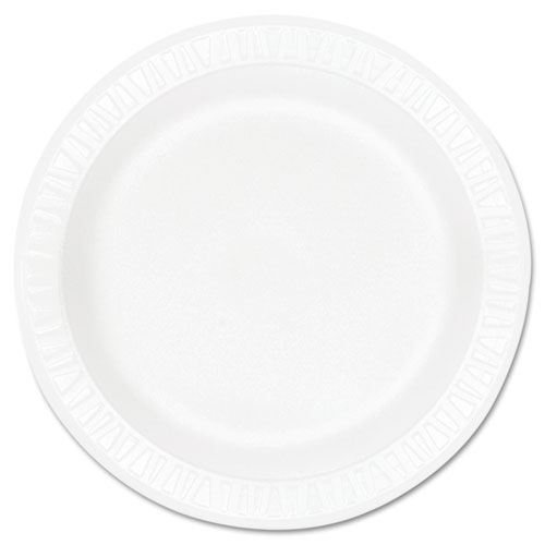 Concorde Foam Plate, 10 1/4 dia, White, 125/Pack, 4 Packs/Carton