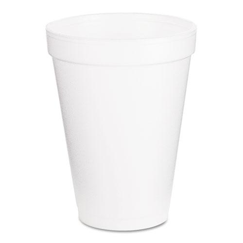 Foam Drink Cups, 12oz, White, 1000/Carton