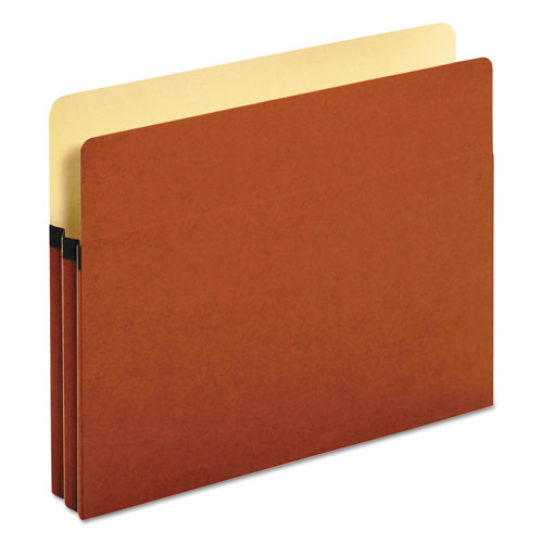 "Standard Expanding File Pockets, 1.75"" Expansion, Letter Size, Red Fiber, 25/Box 