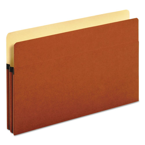 "Standard Expanding File Pockets, 1.75"" Expansion, Legal Size, Red Fiber, 25/Box 