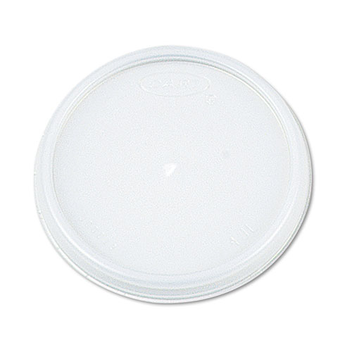 Plastic Lids, Fits 12 - 24 oz Foam Cups, Translucent, 100/Pack, 10 Packs/Carton | by Plexsupply