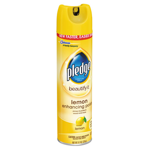Furniture Polish, Lemon, 9.7 oz, Aerosol, 12/Carton