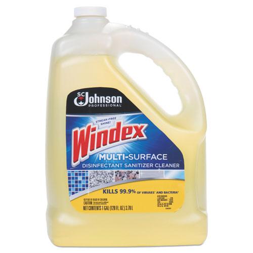 Windex® Multi-Surface Disinfectant Cleaner, Citrus, 1 gal Bottle, 4/Carton