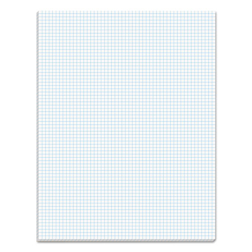 Quadrille Pads, 6 sq/in Quadrille Rule, 8.5 x 11, White, 50 Sheets | by Plexsupply