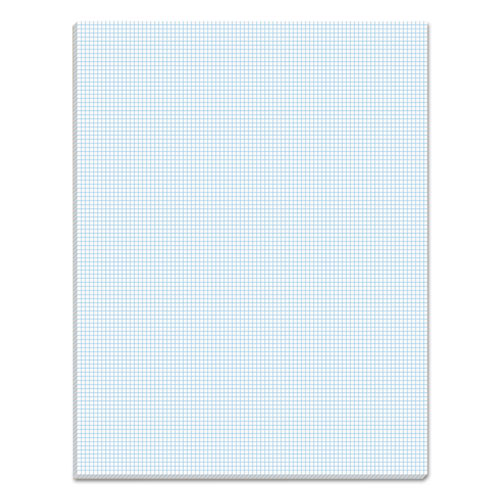 Quadrille Pads, 10 sq/in Quadrille Rule, 8.5 x 11, White, 50 Sheets | by Plexsupply