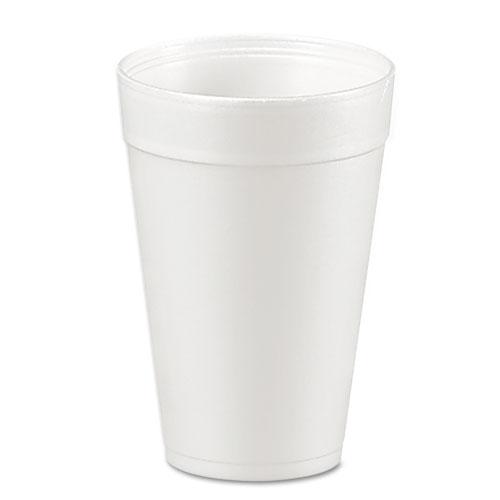 Foam Drink Cups, 32oz, White, 25/Bag, 20 Bags/Carton | by Plexsupply