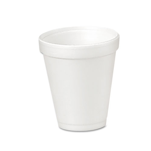 Foam Drink Cups, 4oz, 25/Bag, 40 Bags/Carton 4J4