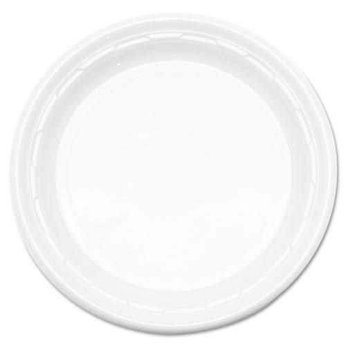 """Dart® Famous Service Plastic Dinnerware, Plate, 6"""" dia, WE, 125/Pack, 8 Packs/Carton"""