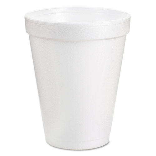 Foam Drink Cups, 8oz, White, 25/Bag, 40 Bags/Carton 8J8