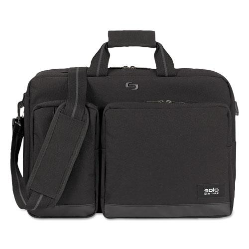 Urban Hybrid Briefcase, 5 x 17.25 x 17.24, Polyester, Black