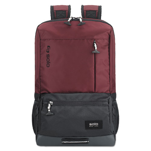 Draft Backpack, 6.25 x 18.12 x 18.12, Nylon, Burgundy