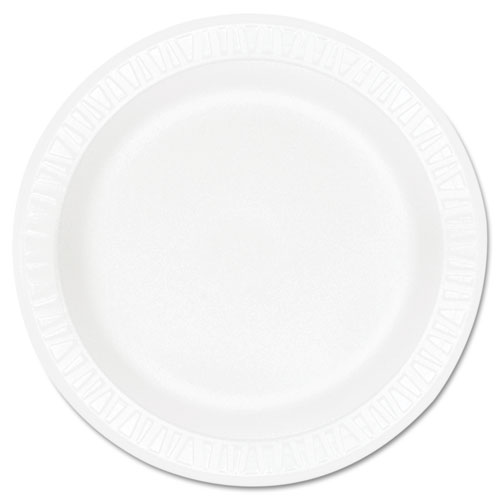 "Concorde Foam Plate, 9"" dia, White, 125/Pack, 4 Packs/Carton 