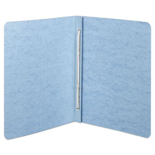 "Presstex Report Cover, Top Bound, Prong Clip, Letter, 2"" Cap, Light Blue 