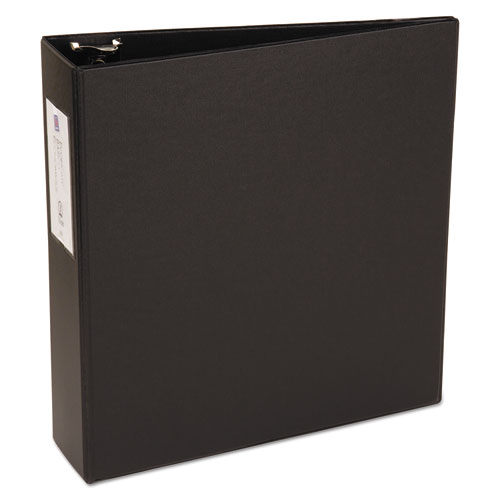 """Economy Non-View Binder with Round Rings, 3 Rings, 3"""" Capacity, 11 x 8.5, Black 
