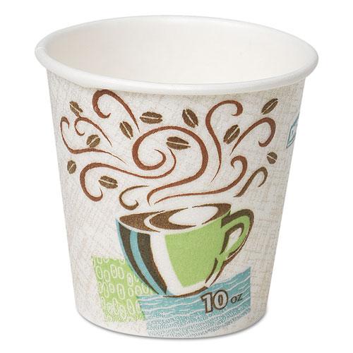 Hot Cups, Paper, 10oz, Coffee Dreams Design, 500/Carton