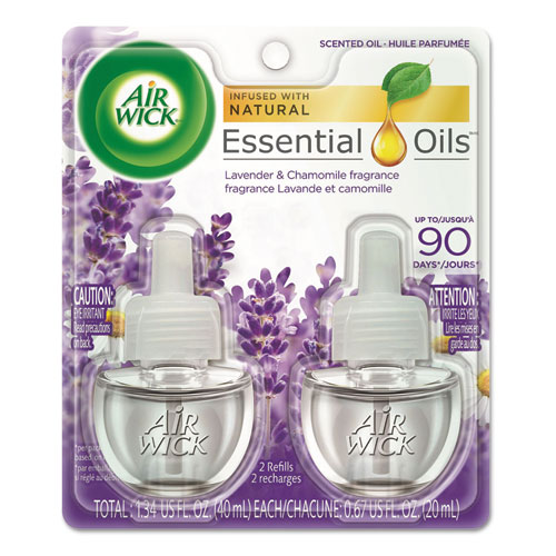Scented Oil Refill, Lavender & Chamomile, 0.67oz, Purple, 2/Pack | by Plexsupply
