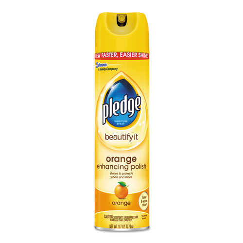 Furniture Polish, Orange Clean Scent, 9.7 oz Aerosol