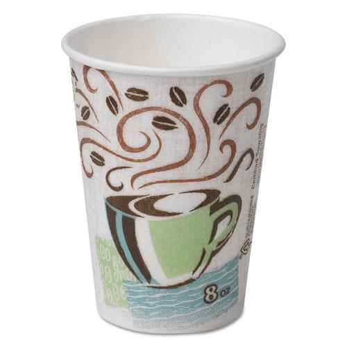 Hot Cups, Paper, 8oz, Coffee Dreams Design, 500/Carton