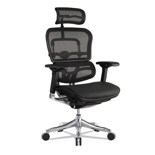 "Ergohuman Elite High-Back Chair, 18.1"" to 21.6"" Seat Height, Black"