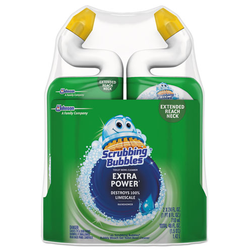 Extra Power Toilet Bowl Cleaner, Rainshower, 24 oz Bottle, 2/PK, 6 Packs/Carton