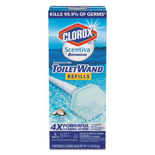 scentiva disinfecting toiletwand refills 6 pack sani chem supplies