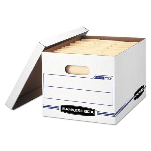 STOR/FILE Basic-Duty Storage Boxes, Letter/Legal Files, 12 x 16.25 x 10.5, White, 20/Carton