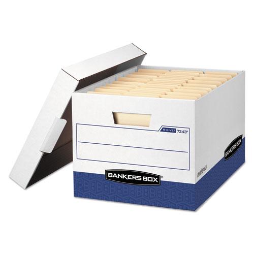 R-KIVE Heavy-Duty Storage Boxes, Letter/Legal Files, 12 x 16.5 x 10.38, White, 20/Carton