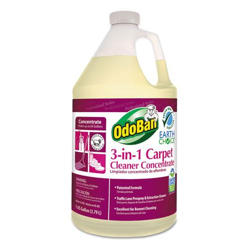 OdoBan® Earth Choice 3-N-1 Carpet Cleaner, 128 oz Bottle, Unscented, 4/CT