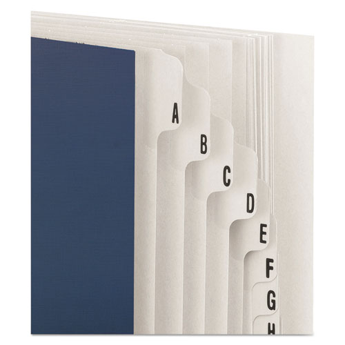 Expandable Indexed Sorter, A-Z, Letter Size, Navy Blue