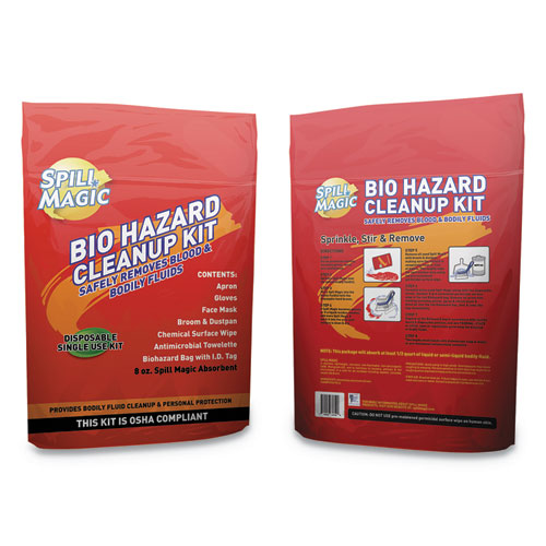 Biohazard Spill CleanUp, 3/4 x 6 x 9