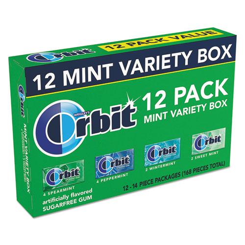 Orbit® Sugar-Free Chewing Gum, Peppermint; Spearmint; Sweet Mint; Wintermint, 12/PK