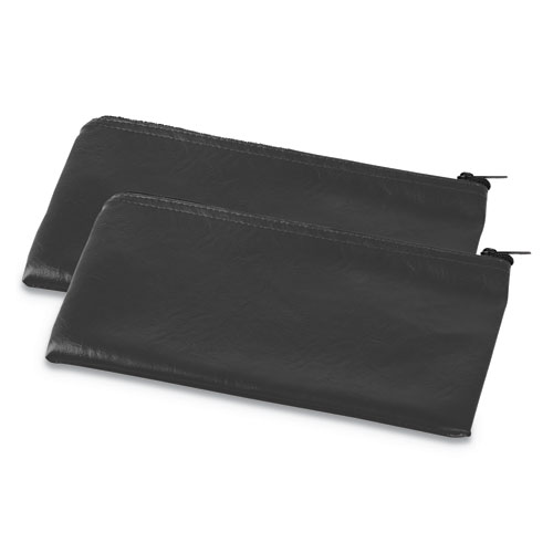 Zippered Wallets/Cases, 11w x 6h, Black, 2/PK