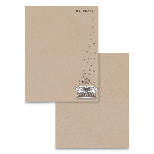 Pre-Printed Paper, 24 lb, 8.5 x 11, Hi There, 75/Pack