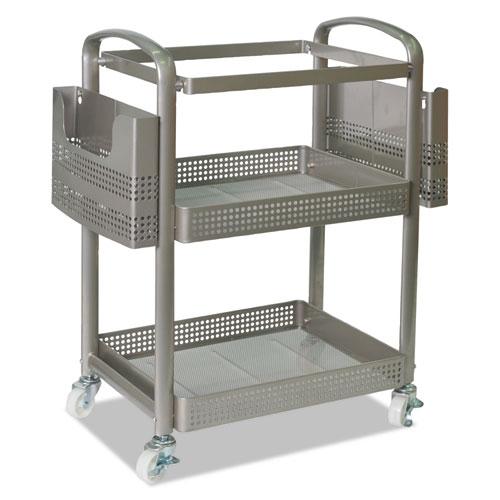 Mobile File Cart, 22.2w x 12.3d x 25.2h, Silver